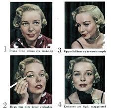 1950s doe e look in 4 steps diane lynn minus eye makeup