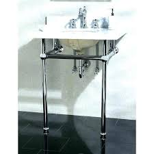 pedestal sink with metal legs console