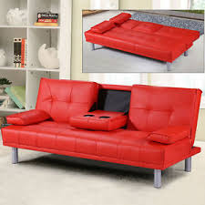 red sofa bed. Perfect Bed Image Is Loading ModernFauxLeather3SeaterSofaBedamp With Red Sofa Bed