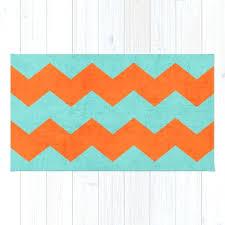 orange chevron rugs chevron teal and orange rug home decor ideas orange chevron rugs