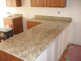 this countertop was installed using the granite color santa cecilia as you can see there is some movement with this stone so the direction of the pattern