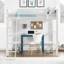 teen bed furniture. Fine Bed Loft Bed Over Desk Twin Bunk With Ladder White Wood Furniture Kids Teen  Bedroom And R
