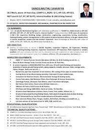 Ndt Inspector Resume Quality Control Inspector Resume Souvenirs Enfance Xyz