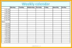 Weekly Calendars With Hours Weekly Calendar With Times Template Flaky Me
