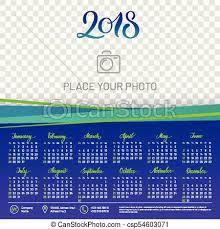 Wall Calendar 2018 Year Copy Space Atop