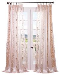 camille taupe gold embroidered sheer curtain contemporary curtains