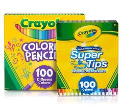 Crayola Supertips 50 Color Chart 100 Super Tips Markers 100 Colored Pencils Crayola Com Crayola