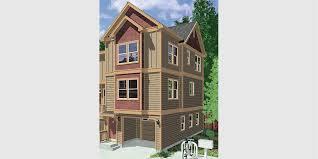 3 story house plans narrow lot. Duplex House Plans, Narrow Lot 3 Story Townhouse Plans With Garage, Row D-544 E