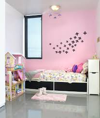 Pink Accent Wallpaper Grey Nursery With Pink Accent Wall Accent Wall Small  Kids Bedroom Brown Girl Carpet Brown Stripes Fur Blanket White Mural Pattern