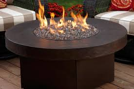 small round gas fire pit table