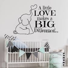 Us 616 25 Offcute Elephant Quotes Wall Stickers For Baby Nursery Bible Vinyl Wall Decal Kids Bedroom Christian Art Sticker Wallpaper S602 In Wall