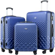 Light Luggage Sets Seanshow Hardside Lightweight Luggage Set With Spinner Wheels 3pcs Luggage Set With Tsa Lock 20 24 28in