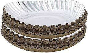 "Marketvariations Silver <b>Coated</b> Disposable Paper Plate 10"" (<b>50 Pcs</b>)"