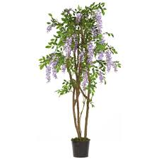 nearly natural  ft wisteria silk treepp  the home depot