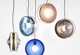 crystal glass pendant lamps