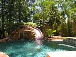 waterfall slides backyard pool ideas 2236 hostelgardennet
