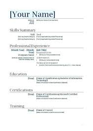 Resume Template For First Job Resume With No Job Experience Template Nstv Me