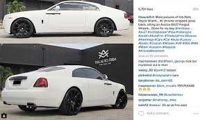 rolls royce wraith white and black. carlos boozer joins the rollsroyce wraith wave rolls royce white and black