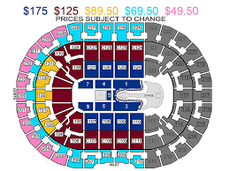 Cleveland Cavs Seating Chart Quicken Loans Arena Box Office Salsa Clubs Nyc