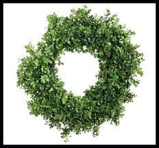 faux boxwood wreath fake wall covering faux boxwood