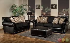 Perfect Decoration Black Living Room Furniture Sets Smart Design Living  Awesome Black Leather Room Set With