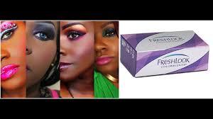 Freshlook Color Chart For Dark Eyes Freshlook Colorblends 6 Colors On Dark Eyes Skin