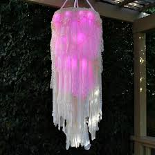 light up boho chandelier free tutorial with pictures on how to make a