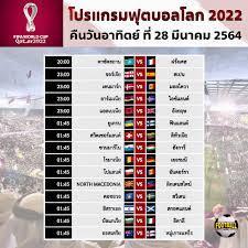 โปรแกรมฟุตบอลโลก 2022 รอบคัดเลือกโซนยุโรป นัดที่ 2 (27–28 มีนาคม 2564)