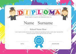certificates of completion for kids kids diploma preschool certificate elementary school design template