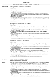 resume for account manager sales account management resume samples velvet jobs