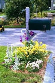 landscaping around mailbox post. What To Plant Around Mailbox Flowering Gardens Boost Curb Appeal Planter Designs Landscaping Post