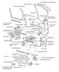 solved front door dis embly diagram for toyota car rh carrepairpro car door parts diagram