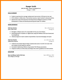 8 Child Care Worker Resume Resign Latter