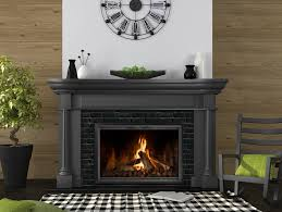 increase energy efficiency an open fireplace