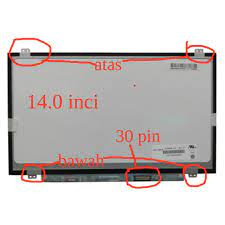 LCD LED 14.0 inci pin 30 untuk Laptop Lenovo