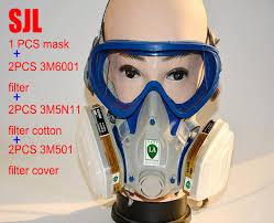sjl silicone respirator gas mask pesticide pintura full face carbon filter mask paint spray gas box