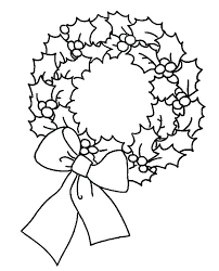 Christmas Wreath Coloring Pages To Print With Wreaths Holiday