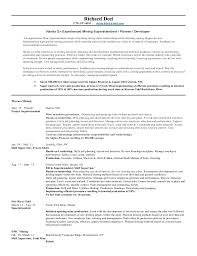 Richard Deel Superintendent Resume