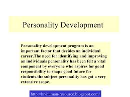 personality development jpg cb  personality development personality development program is an important factor that decides an individual career