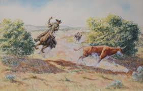 Byron Wolfe (1904-1973), Headin' For Cover! – Arader Galleries