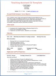 Ideas of Sample Resume For Teacher Assistant Also Download