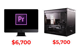 Imac Speed Comparison Chart 6 700 Imac Pro Vs 5 700 Custom Pc Adobe Premiere