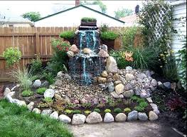 Backyard Waterfalls Ideas And Ponds Pictures Small Waterfall
