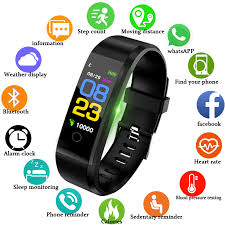 LIGE New Smart Watch <b>Men</b> Women <b>Heart Rate Monitor</b> Blood ...