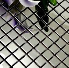 polished silver metal mosaic tile smmt018 square stainless steel wall tiles backsplash silver mirror metallic mosaic tiles