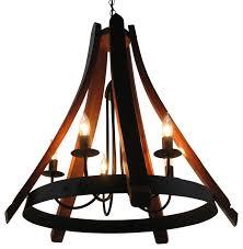 cervantes recycled wine barrel chandelier rustic chandeliers