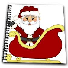 cute santa claus drawing. Plain Drawing Get Quotations  Anne Marie Baugh  Christmas Cute Santa Claus  Sitting In His Sleigh Waving Illustration And Drawing C