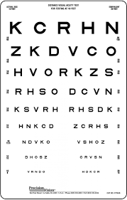 Picture Vision Chart Linear Spaced Translucent Sloan Vision Chart
