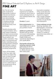 Btec Art And Design Assignments Ccad School Leaver Prospectus 2013 By The Northern School Of