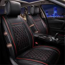 get ations easy to clean pu leather car seat cushions 5 seats full set anti slip